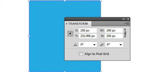 панель Transform