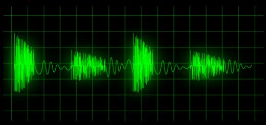 Линия сигнала на мониторе