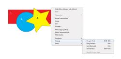 Расположение объектов Adobe Illustrator