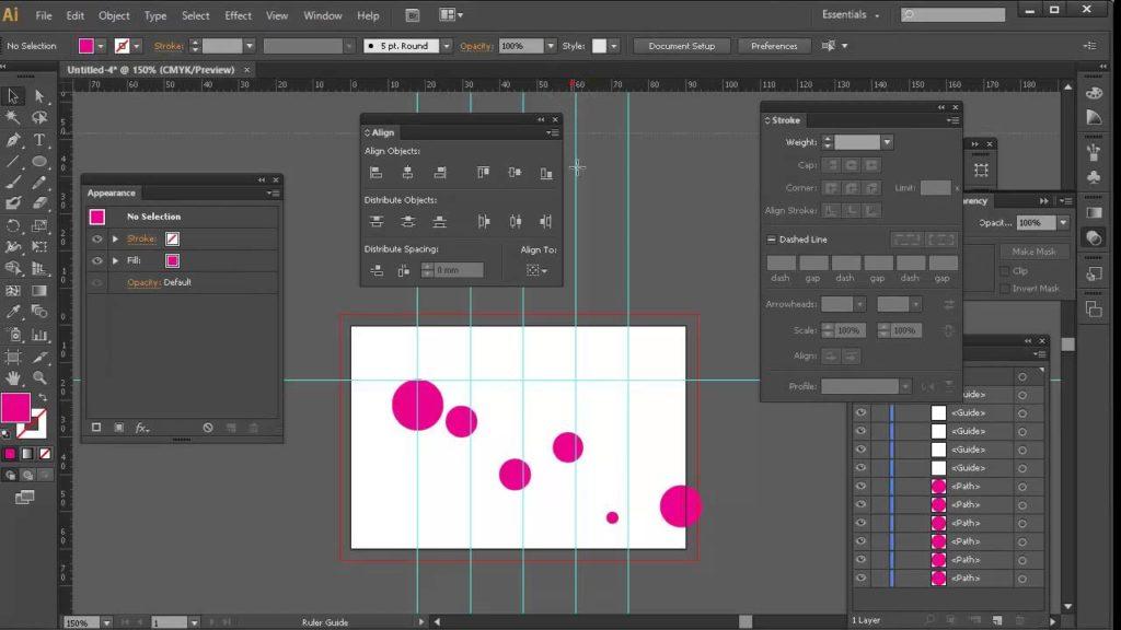 Управляющая панель Adobe illustrator